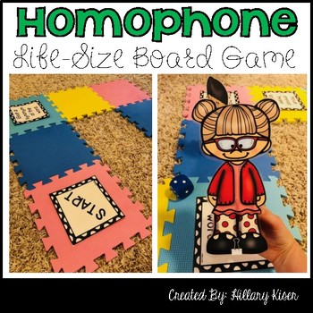 Homophone Life-Size Board Game