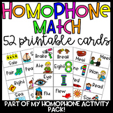 Homophone Match Cards/Pocket Chart Cards
