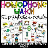 Homophone Match Cards/Pocket Chart Cards