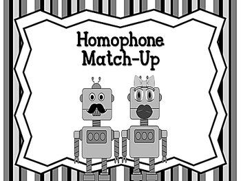 Homophone Match Up L.4.1.g