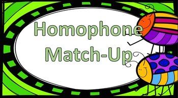Homophone Match-Up Game