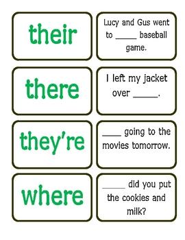 homophone match up game by kasey nichols teachers pay teachers. Black Bedroom Furniture Sets. Home Design Ideas