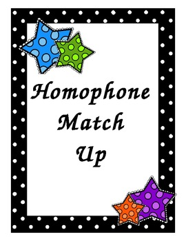 Homophone Match Up Game for Small Groups