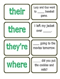 Homophone Match Up Game