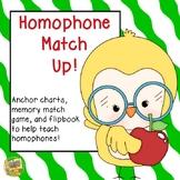 Homophone Match Up and Flipbook Activity!