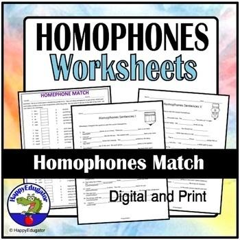 Homophones Match
