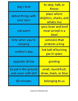 Homophone Matching Cards (2 Sets)