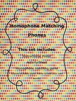 Homophone Matching Game