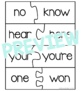 Homophone Matching Puzzles