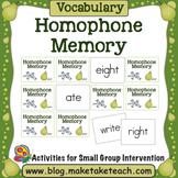 Homophone Memory