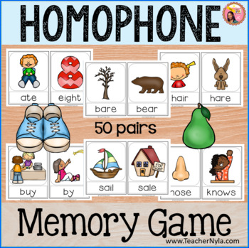 Homophones - Memory Game