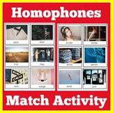 Homophones | Kindergarten 1st 2nd 3rd Grade | Center Activity