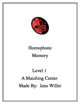 Homophones Memory