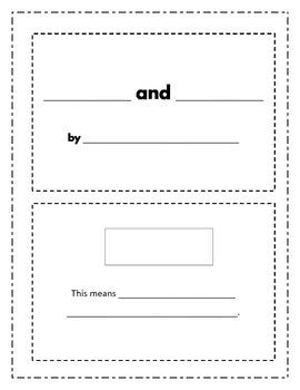 Homophone Mini-Book