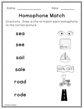 Homophone Mini Unit