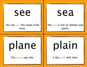 Homophone Mini Word Study Unit