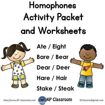 Homophone No Prep Activity Packet and Worksheets