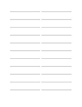 Homophone Note Taking Worksheet
