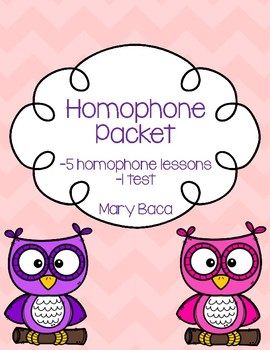 Homophone Packet