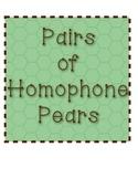 Homophone Pair Pears