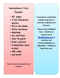 Homophone Pairs Packet - Definitions, Match, Draw, Fill in