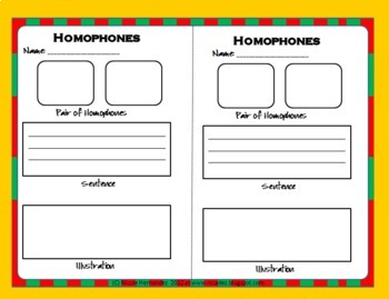 Homophones in Sentences for the Upper Grades