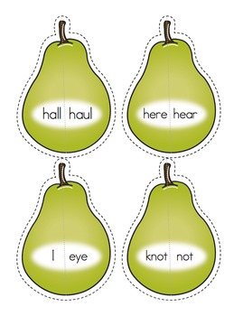 Homophone Pear Match