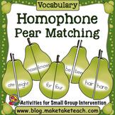 Homophones - Pear Matching