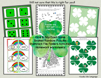 Homophone Picture Activities: St. Patrick's Day and Year Round