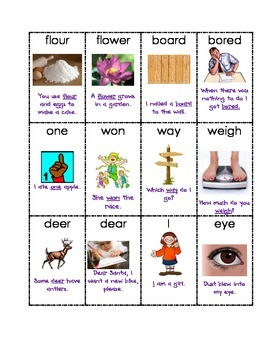 Homophone Picture Match