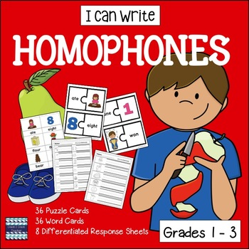 Homophone Picture Word Cards and Puzzles