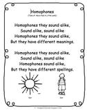 Homophone Poem/song