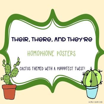 Homophone Poster - Cactus Theme