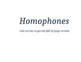 Homophone Posters