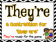 Homophone Posters: Set 1 (10 Posters Including There/They'