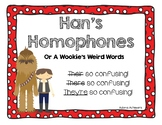 Homophone Posters and Interactive Spelling Practice Star W