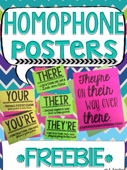 Homophone Posters - There, Their, They're & Your, You're -