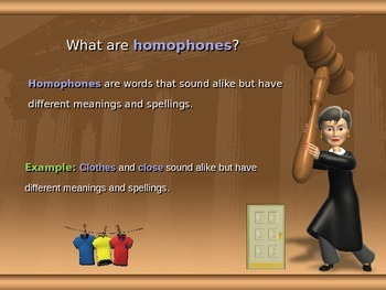 Homophone Powerpoint : You be the Judge