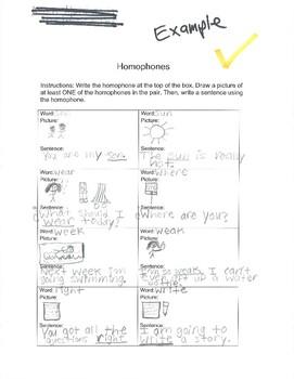 Homophone Practice
