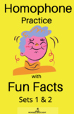 Homophone Practice with Fun Facts Bundle Sets 1 &2 (Distan
