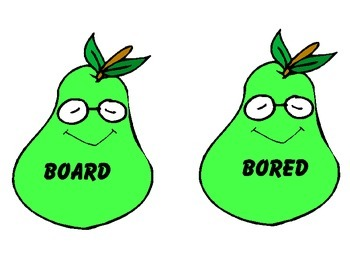 Homophone Practice with Pairs of Pears