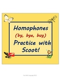 Homophone Practice with Scoot Game for By Bye Buy Commonly Confused Words