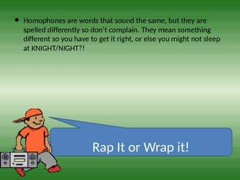 Homophone Practice with a Rap!