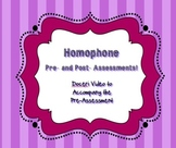 Homophone Pre- and Post-Assessments 5th Grade Common Core