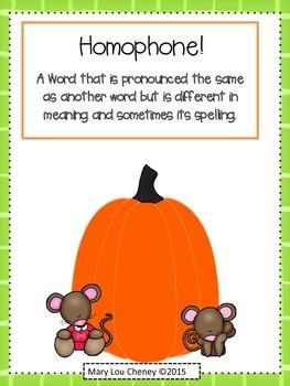 Homophone Pumpkin Fun!