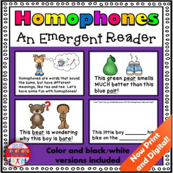 Grammar Activity - Homophone Reader