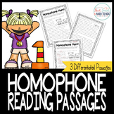 Homophone Reading Hunt Passages