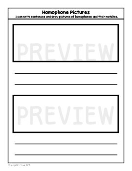 Homophone Recording Journal Set (with Interactive Notebook Option)