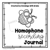 Homophone Recording Journal Set (with Interactive Notebook