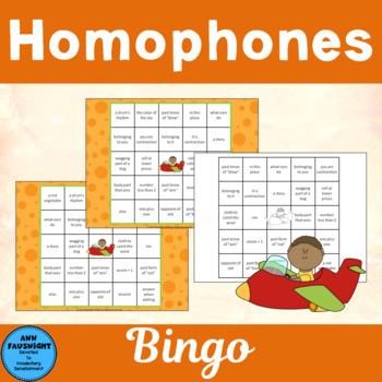 Homophone Reverse Bingo